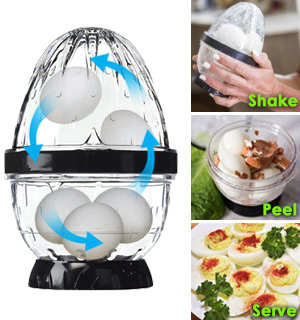 Egg Stripper: Peel 5 Hard-Boiled Eggs at Once! - #8338