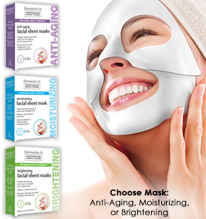 Intensive Skin Care Facial Sheet Masks - 3 to choose from - #8353