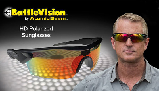 BattleVision HD Polarized Sunglasses by Atomic Beam