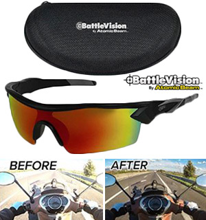 BattleVision HD Polarized Sunglasses by Atomic Beam - #8363