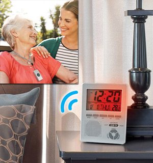 Caregiver Home Alert System and Multifunction Clock - #8366