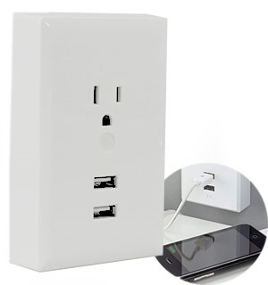 RCA Dual USB Wall Plate Charger - #8383