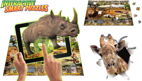 150pc Interactive Smart Puzzles with Augmented Reality App