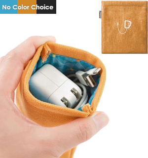 Pocket for Chargers: Large Durable Canvas Storage Pouch - #8394