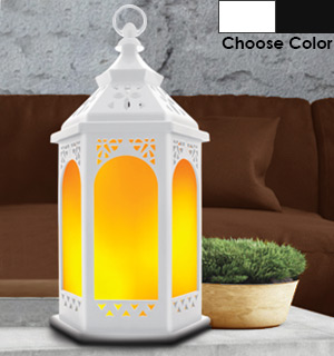 Vintage Flame Lantern with Realistic Flame - #8403