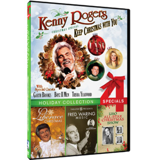 Holiday DVD Collection featuring Kenny Rogers, Liberace, and more - #8426
