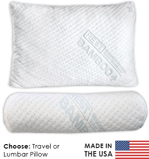 Bamboo Travel and Lumbar Pillows - Made in the USA
