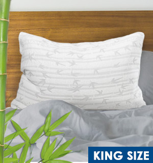The ONLY Pillow - Bamboo Luxury KING Pillow W/ Variable Fill Technology