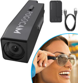 PogoCam - Mini HD Camera Attaches to Glasses - #8450