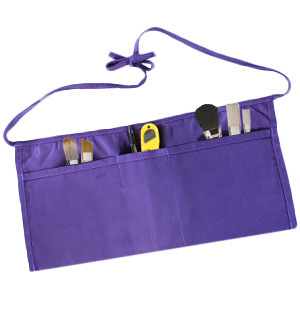 Ataly 3-Pocket Waist Apron - Purple - #8454