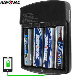 Rayovac Battery-USB Converter and Charger