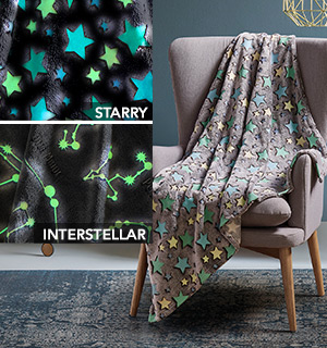 Glow in the Dark Starry Throws - #8466