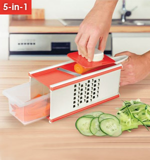 5-in-1 Multi-function Vegetable Slicer and Grater - #8467