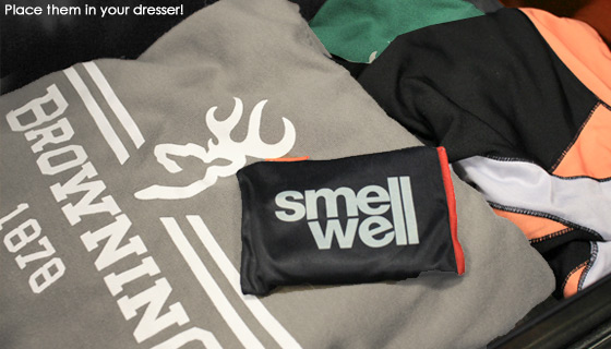 2-Pack of SmellWell Pouches - Eliminates Odors and Moisture