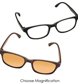 Computer and Reading Glasses Combo Pack - Reduce Eyestrain and Insomnia
