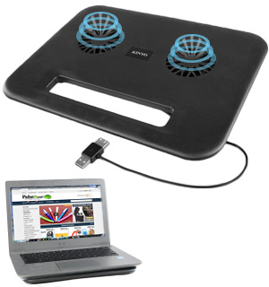 Dual Fan Laptop Cooling Pad - #8480