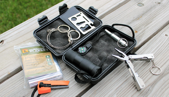 9pc SWAT Survival Kit with Waterproof Case