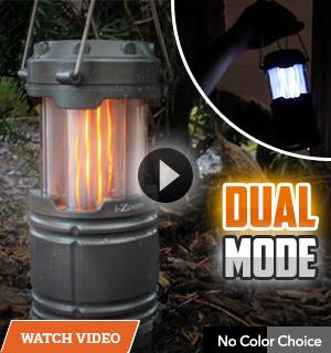 Flickering Flame Dual Mode Collapsible Lantern