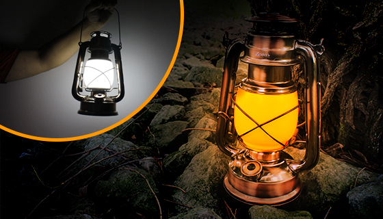 Dual Mode Authentic-Style Hurricane Lantern