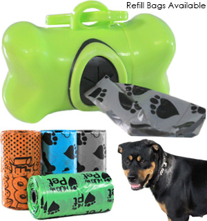 Handy Walker Pet Waste Bag Dispenser and Refills