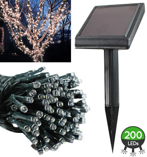 LiteUP 200 Solar String Lights - #8516