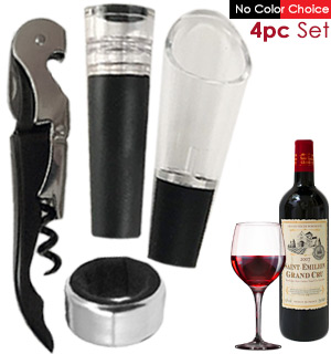 4 Pc Wine Gift Set - #8531