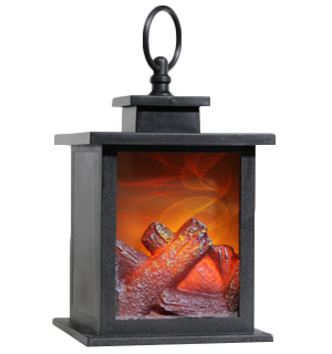 LED Antique Fireplace Lantern - #8537