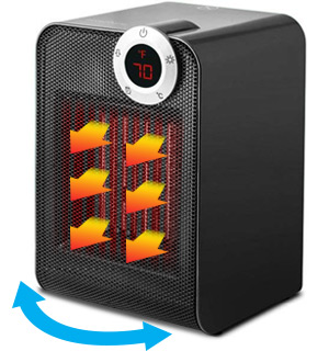Touch-Activated Digital Oscillating Space Heater by Modern Home - #8538