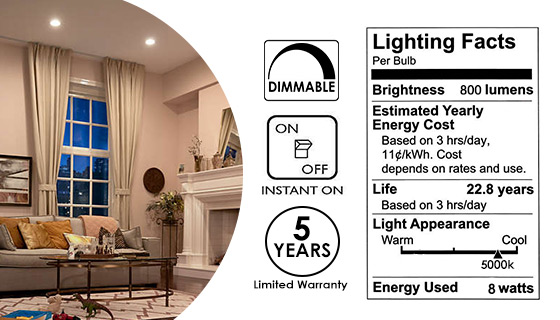 Philips 75-Watt Equivalent LED Can/Flood Light Bulb - Dimmable and Indoor/Outdoor