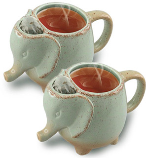 Ceramic Elephant Tea Mug - 2pk - #8550