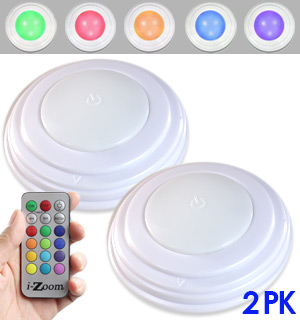 2pk Wireless LED Color Changing Accent Lights - #8564