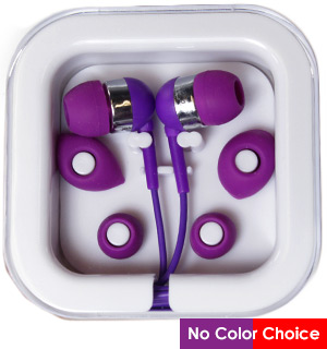 Earbuds with Mic and Carrying Case - #8573