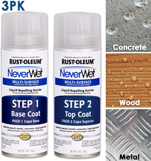 Rust-Oleum NeverWet Multi-Surface Waterproofing Treatment 3-Pack - #8578