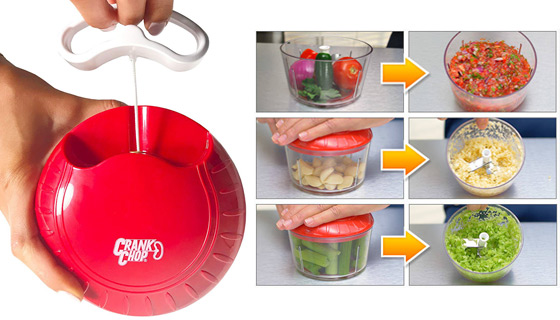 Crank Chop Food Chopper - Chop, Mince, And Puree!