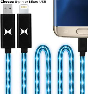 FlowFX LED High Speed Charge and Sync Cables