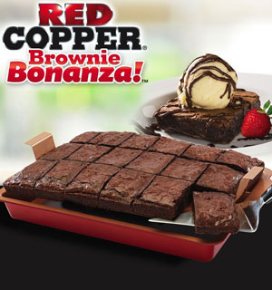 The As Seen on TV Red Copper Brownie Bonanza! - #8597