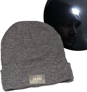 Knit Cap with 5 LED Lights