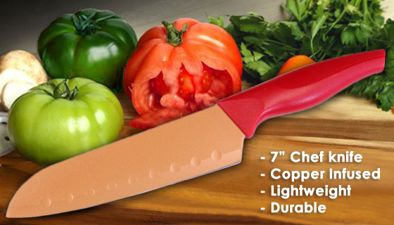 red copper chef knife