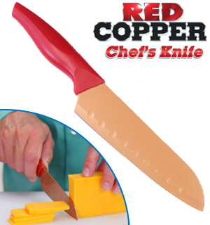 Red Copper Santoku Chef's Knife