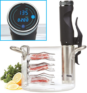 Sous Vide Power Precision Cooker Deluxe with Cooking Rack - #8638
