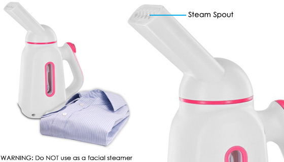 Dual Heat Fabric Steamer with Free Dryer Balls