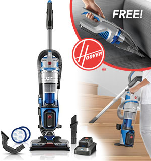 Hoover Air Cordless Lift Deluxe Upright Vacuum with FREE Hand Vac - #8659