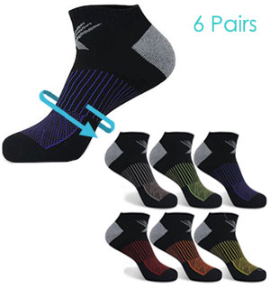 Extreme Fit Cushioned Low Compression Ankle Socks