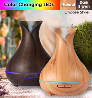 400mL Deluxe Humidifier and Aroma Diffuser - #8669