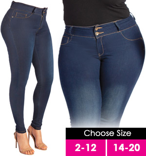 My Fit Denim Jeans: On-Trend Denim, Yoga Pant Comfort - #8675