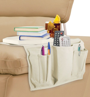 Wooden Couch Tray Table and Organizer - #8680