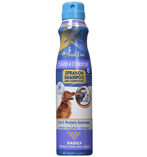 Magic Coat Cleans and Conditions 2-in-1 Protein Enriched Continuous Spray on Dog Shampoo/Conditioner by Four Paws - #8694