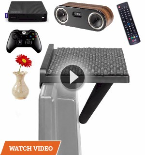 12in Add-A-Shelf TV Topper: Mount Speakers, Controllers, Media Boxes and More