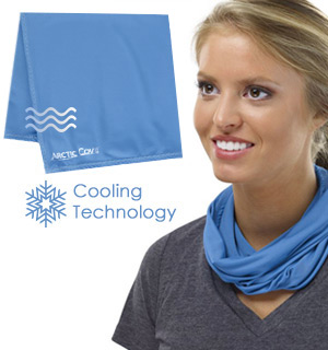 Arctic Cove Cooling Towel is a great makeshift face mask in a pinch.