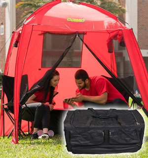 All-In-One Cabana Tent, Cooler, and Storage Bag. Great For The Outdoors!